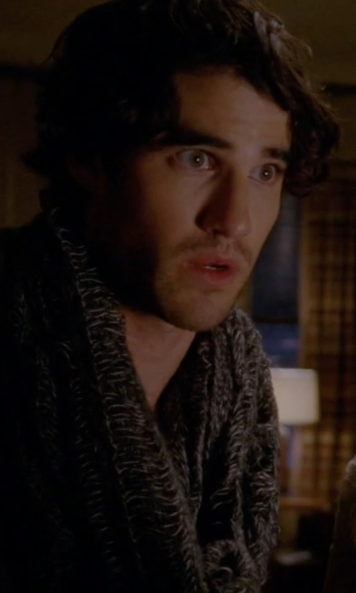 Darren Criss with John Varvatos Star USA Knit Scarf in American Horror Story