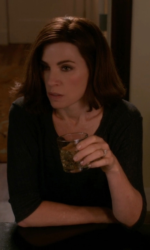 Julianna Margulies with Rebecca Taylor Ponte Dress in The Good Wife