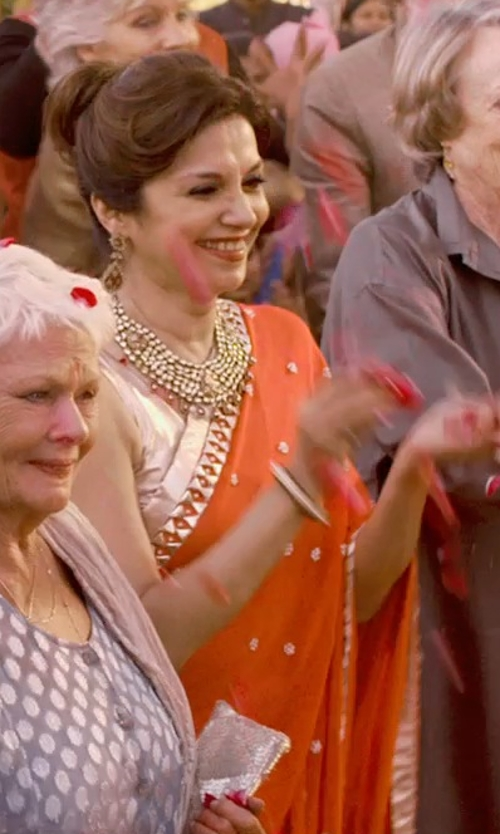 Lillete Dubey with Indian Fashion Trend Georgette Nett Saree in The Second Best Exotic Marigold Hotel