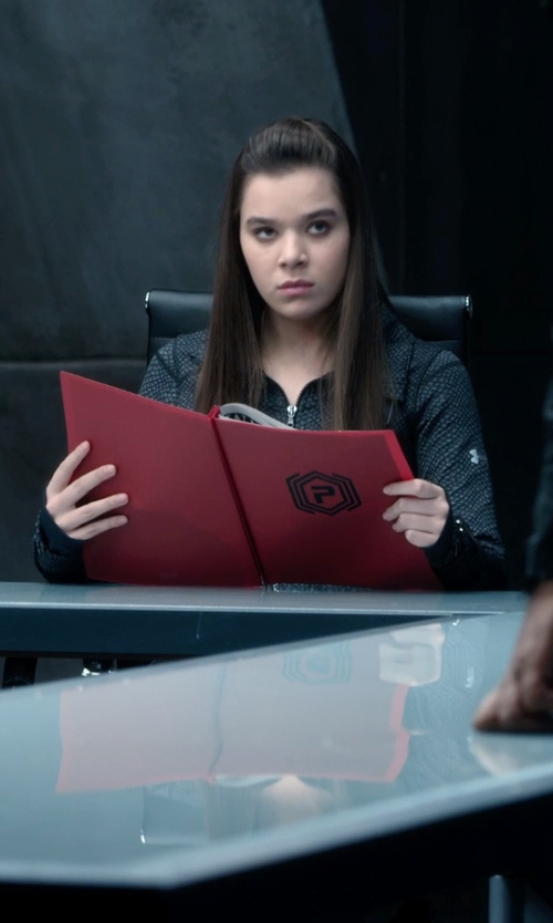 Hailee Steinfeld with Under Armour StudioLux Cozy Jacket (Megan Walsh) in Barely Lethal