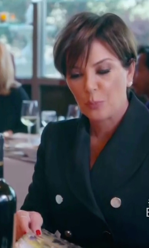 Kris Jenner with Pierre Balmain Double-Breasted Crepe Blazer in Keeping Up With The Kardashians