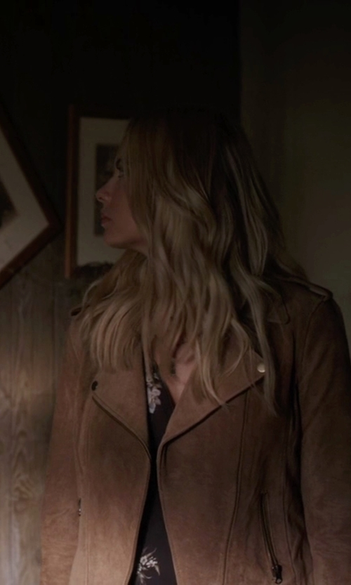 Ashley Benson with The Kooples Floral Print Crêpe De Chine Blouse in Pretty Little Liars