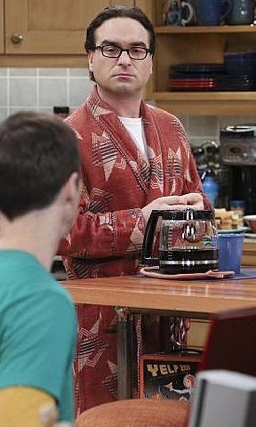 Johnny Galecki with Beacon Vintage Blanket Robe in The Big Bang Theory
