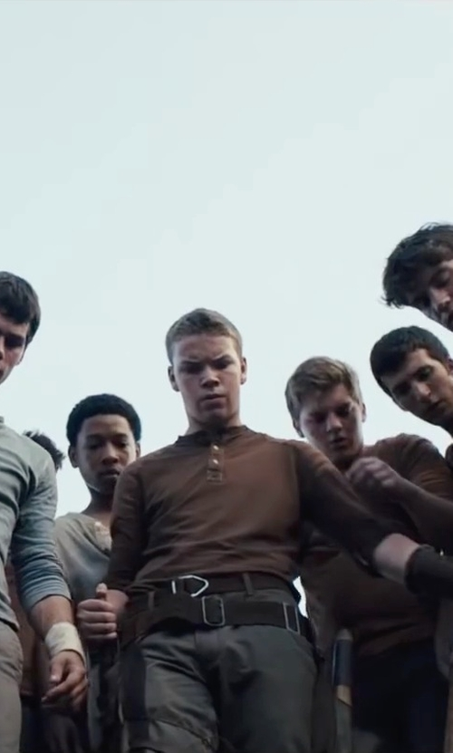 Will Poulter with Old Navy Men's Leather Belts in The Maze Runner