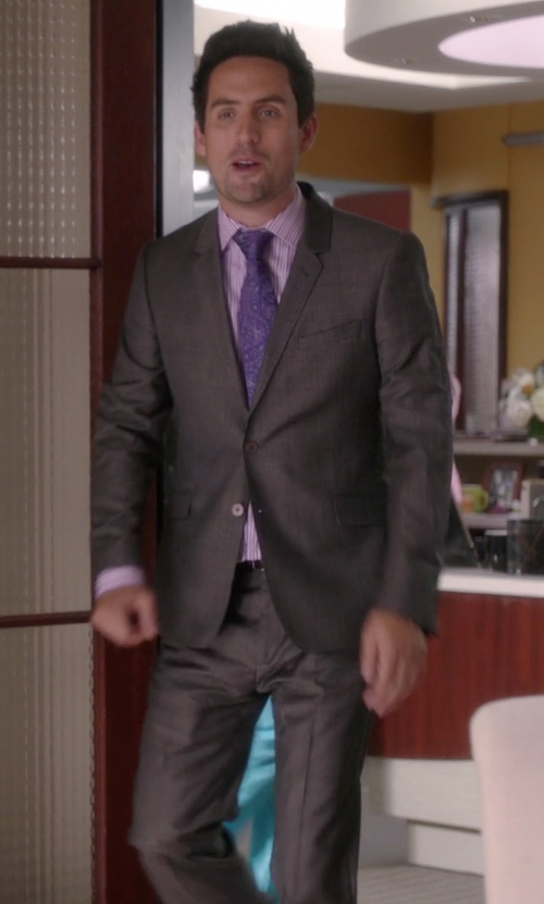 Ed Weeks with Lardini Two Piece Suit in The Mindy Project