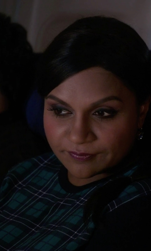 Mindy Kaling with Equipment Roland Crew Neck Sweater in The Mindy Project