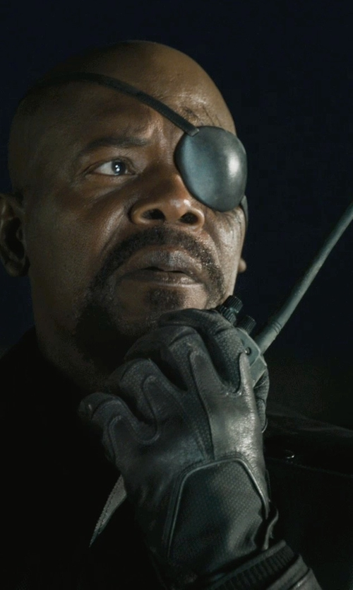 Samuel L. Jackson with Icom Handheld Radio in Marvel's The Avengers