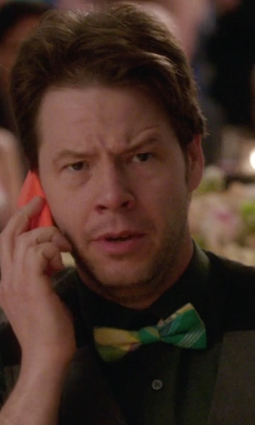 Ike Barinholtz with Ted Baker London Largo Plaid Bow Tie in The Mindy Project