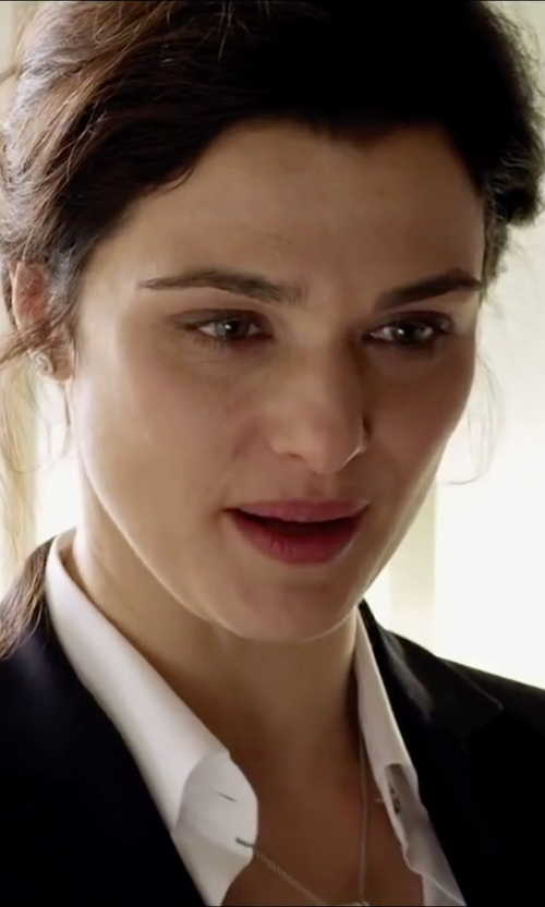 Rachel Weisz with Swarovski Pebble Crystal Pavé Pendant Necklace in Youth