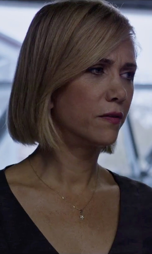 Kristen Wiig with Gemaffair Snowflake Charm Necklace in The Martian