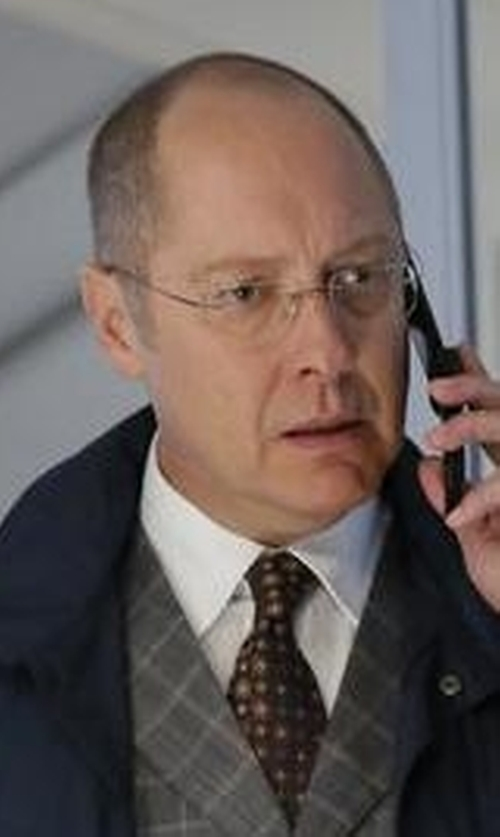 James Spader with Isaia Circle-Medallion Printed Silk Tie in The Blacklist