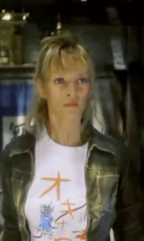 Uma Thurman with Diesel Denim Jacket in Kill Bill: Vol. 1