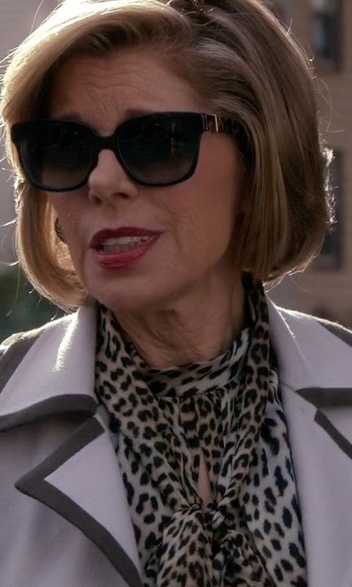 Christine Baranski with Michael Kors Square Sunglasses in The Good Wife