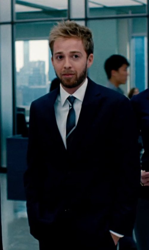 Alex Anfanger with Kenneth Cole Reaction Striped Tie in The Secret Life of Walter Mitty