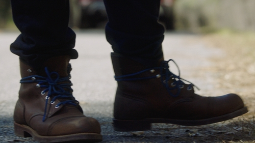 Daniel Kaluuya with Red Wing 'Iron Ranger' 6 Inch Boots in Get Out