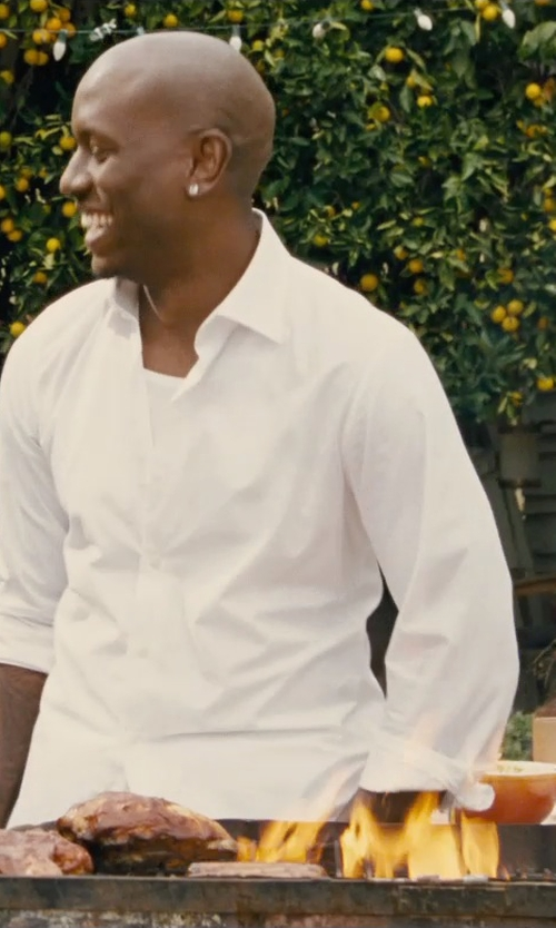 Tyrese Gibson with Tiger Of Sweden Richie Slim Fit Shirt in Furious 7