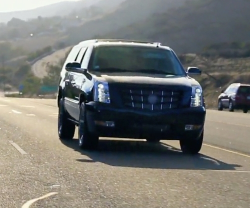 Khloe Kardashian with Cadillac Escalade SUV in Keeping Up With The Kardashians