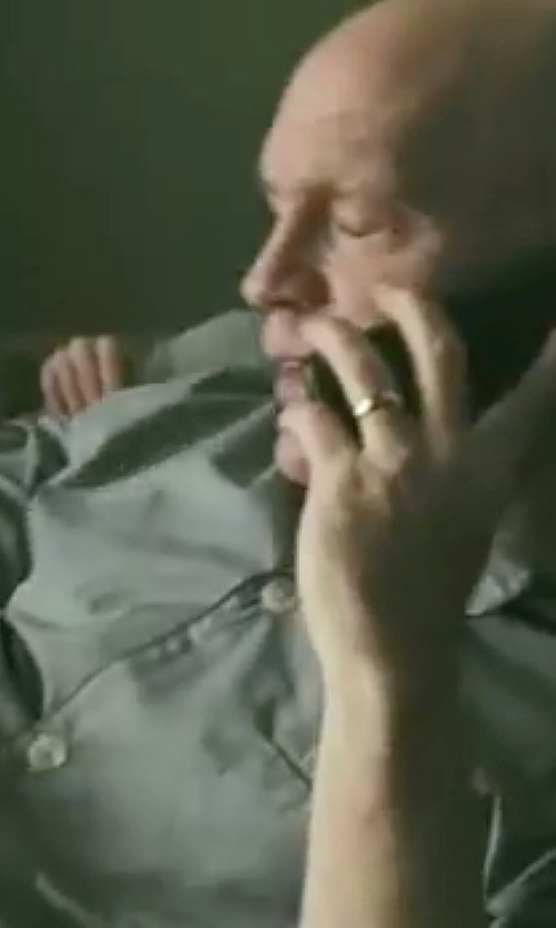 John Malkovich with Geoffrey Beene Silk Pajama Set in Burn After Reading