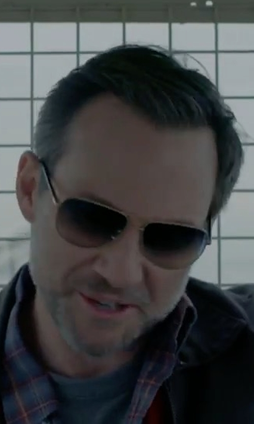 Christian Slater with Maui Jim Polarized Aviator Sunglasses in Mr. Robot