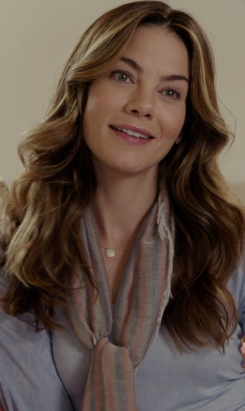 Michelle Monaghan with Missoni Stripe to Zig-Zag Scarf in The Best of Me