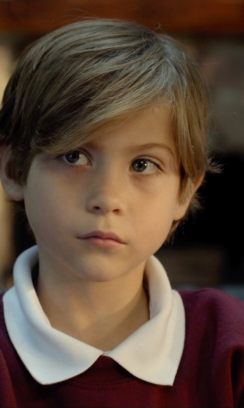 Jacob Tremblay with Old Navy Boys Uniform V-Neck Sweaters in Before I Wake