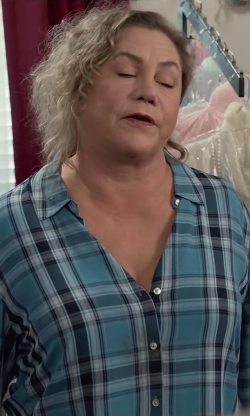 Kathleen Turner with Rails Women's Kendra Plaid Cotton Button Down Shirt in Dumb and Dumber To
