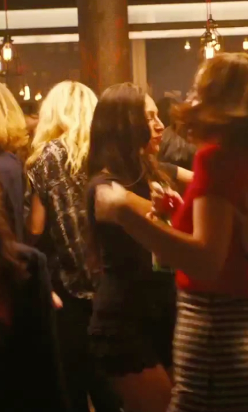 Alison Brie with HLBCBG Bandage Bodycon Dress in How To Be Single