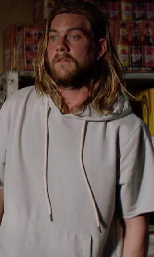 Jake Weary with Alternative Short Sleeve Hoodie in Animal Kingdom