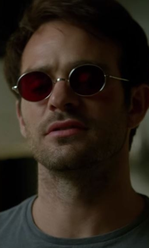 Charlie Cox with Apolis Crew Neck Tee in Daredevil