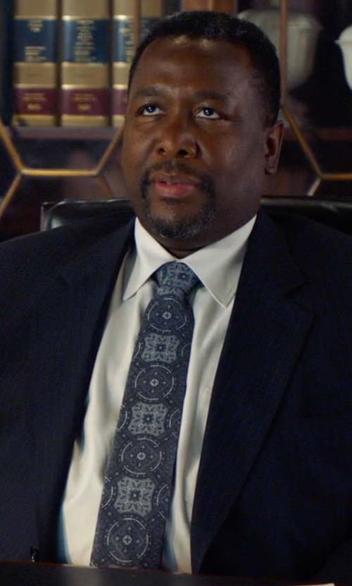 Wendell Pierce with Gieves & Hawkes Cotton-Blend Poplin Shirt in Suits