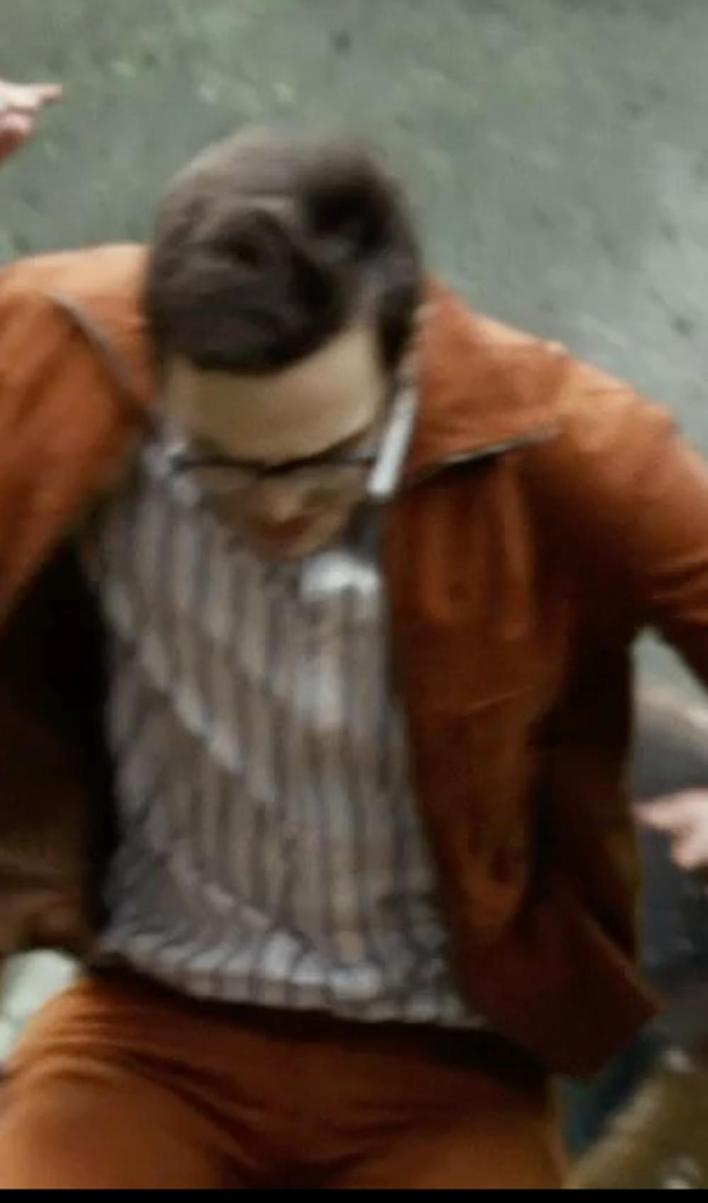 Nicholas Hoult with Thomas Pink Sydenham Stripe Dress Shirt in X-Men: Days of Future Past