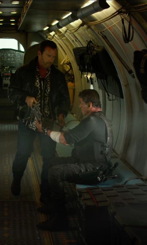 Sylvester Stallone with J Brand Trooper Slim Cargos in The Expendables 3