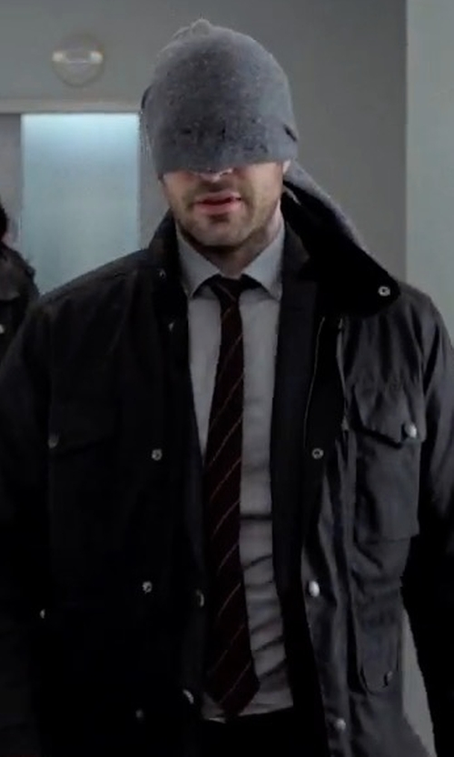 Charlie Cox with Burberry Striped Silk Tie in Marvel's The Defenders