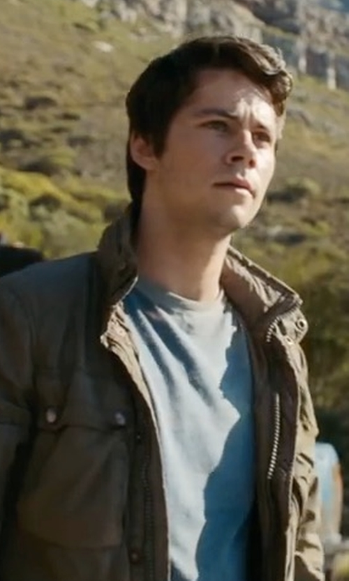 Dylan O'Brien with G-Star RAW Rovic Jacket in Maze Runner: The Death Cure
