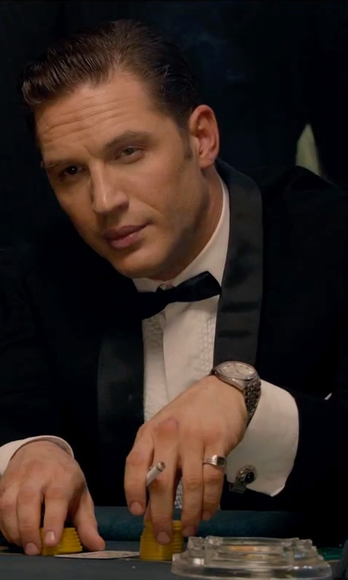 Tom Hardy with Calvin Klein Swiss Stainless Steel Bracelet Watch in Legend