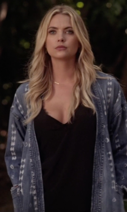 Ashley Benson with The Kooples Silk & Lace Camisole in Pretty Little Liars