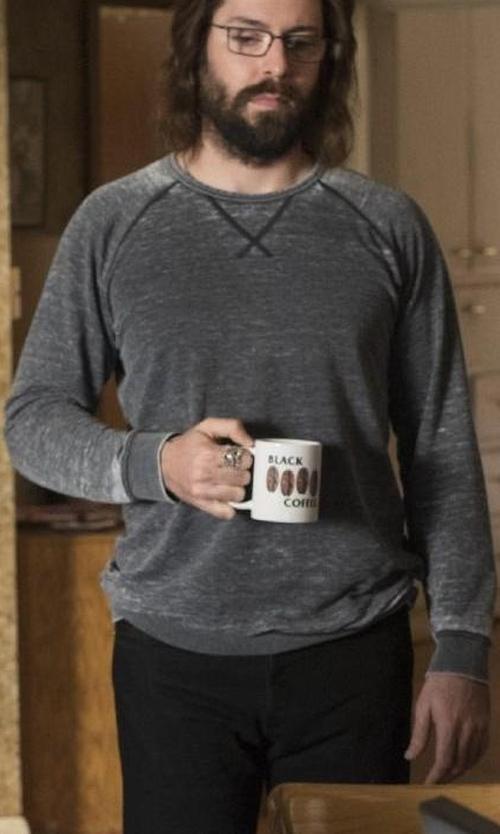 Martin Starr with Alternative Apparel Trim Fit Crewneck Sweatshirt in Silicon Valley