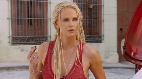 Charlize Theron with Wren+Glory Beaded Chain Bracelet in The Fate of the Furious