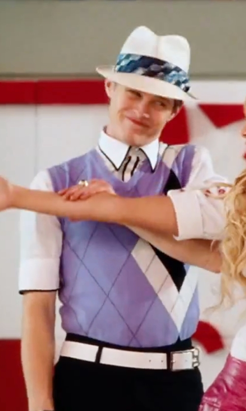 Lucas Grabeel with Topman Slim Fit Contrast Trim Shirt in High School Musical 3: Senior Year