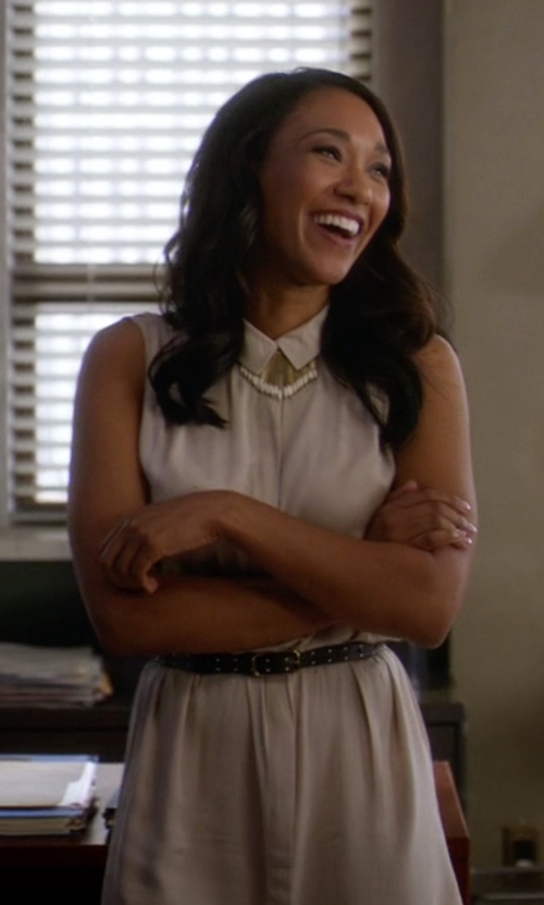 Candice Patton with All Saints Drain Dress in The Flash