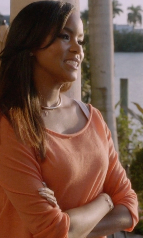 LeToya Luckett with Wouters & Hendrix Thin Diamond Bar Chain Bracelet in Ballers