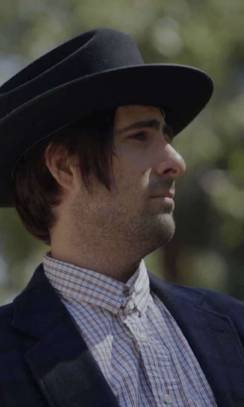 Jason Schwartzman with Ultrafino Crushable Outback Wool Felt Hat in The Overnight