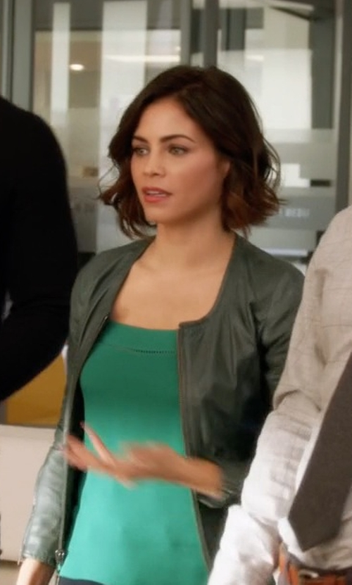 Jenna Dewan Tatum with My Skin Leather Jacket in Supergirl