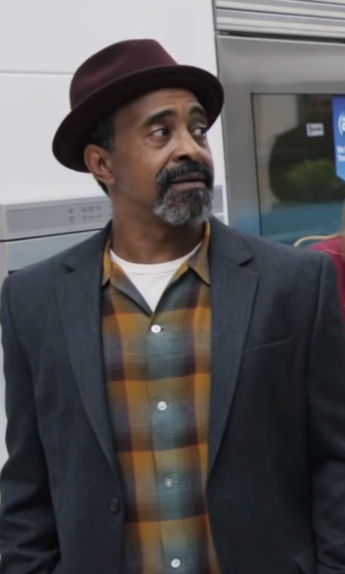 Tim Meadows with CPO Wyatt Plaid Button Down Shirt in Popstar: Never Stop Never Stopping