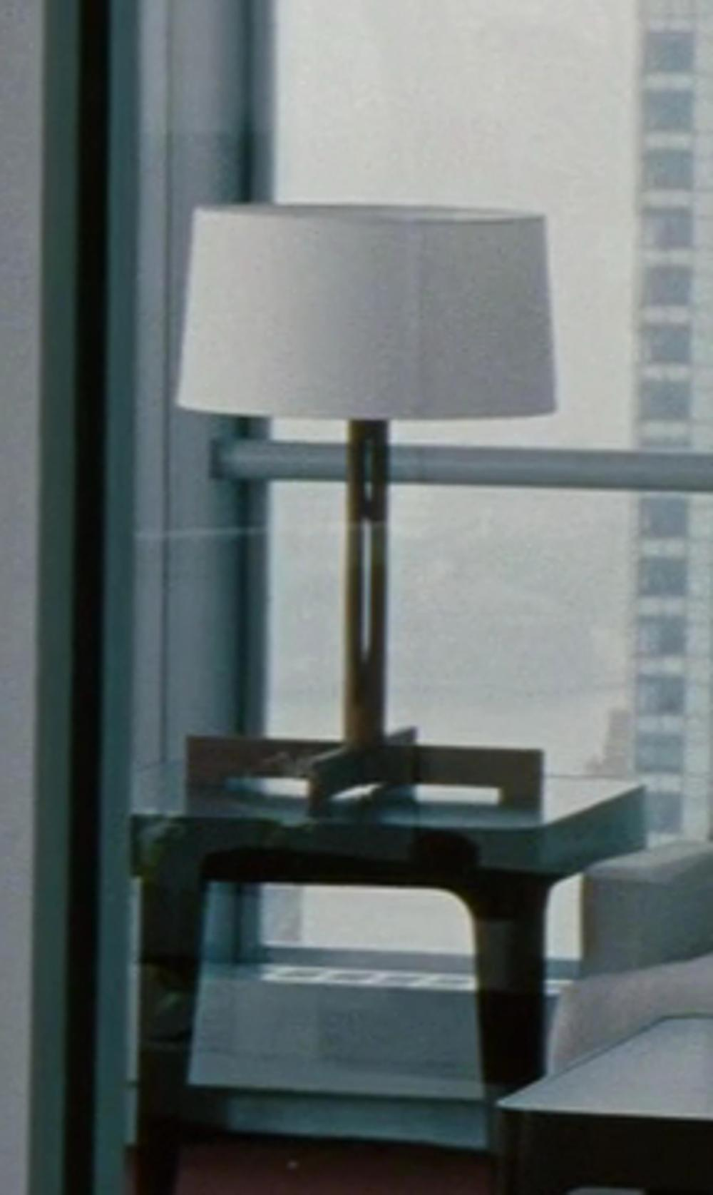 Cameron Diaz with Ikea Aläng Table Lamp, Nickel-plated, White in The Other Woman