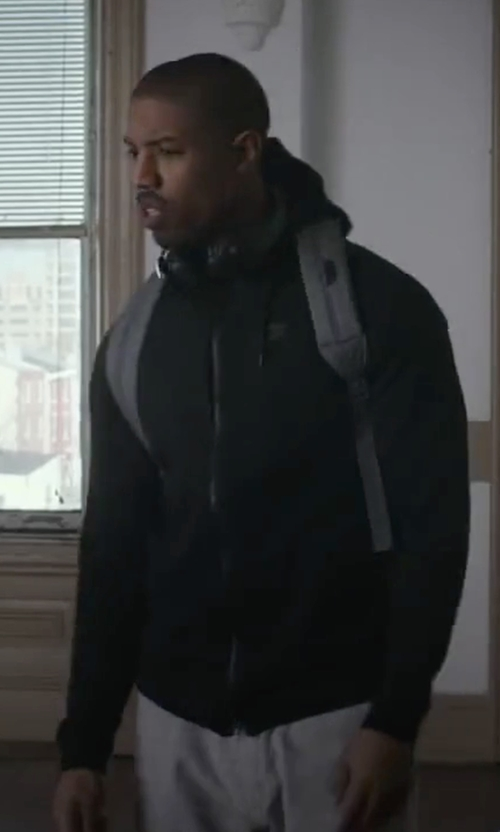 Michael B. Jordan with Herschel Supply Co. Settlement Backpack in Creed