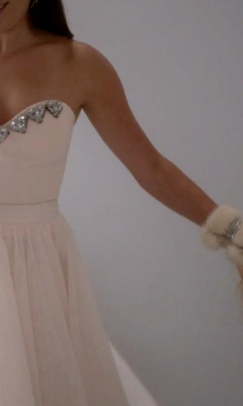 Lea Michele with Aldo Fluffy Framed Clutch Bag in Scream Queens