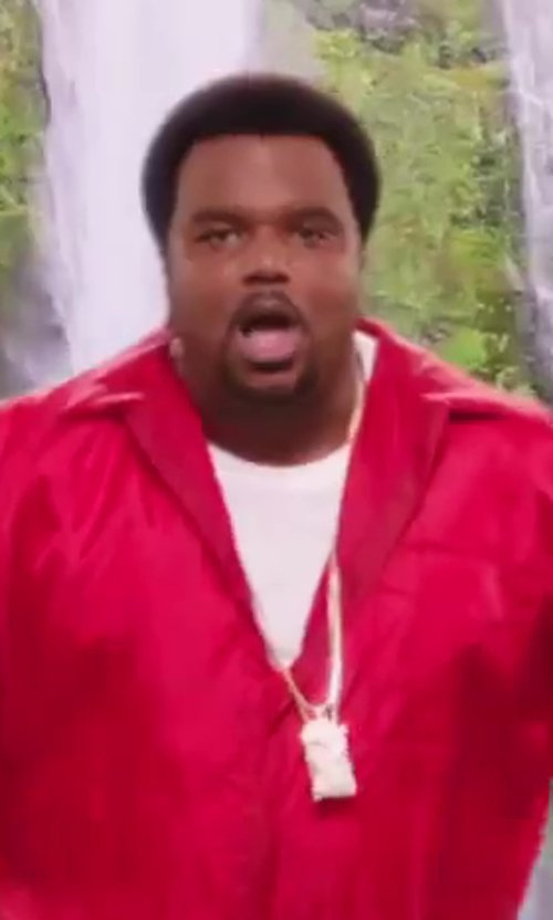 Craig Robinson with Crescendo SJ INC Iced Out Spade Ace Skull Pendant Hip Hop Necklace in Hot Tub Time Machine 2