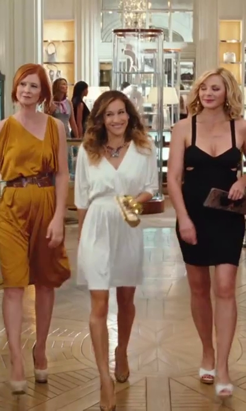 Sarah Jessica Parker with Chanel Box Clutch Bag in Sex and the City 2
