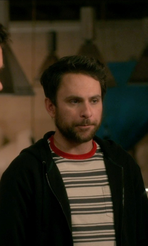 Charlie Day with Cohesive Accra Knit Zip Hoodie in Horrible Bosses 2